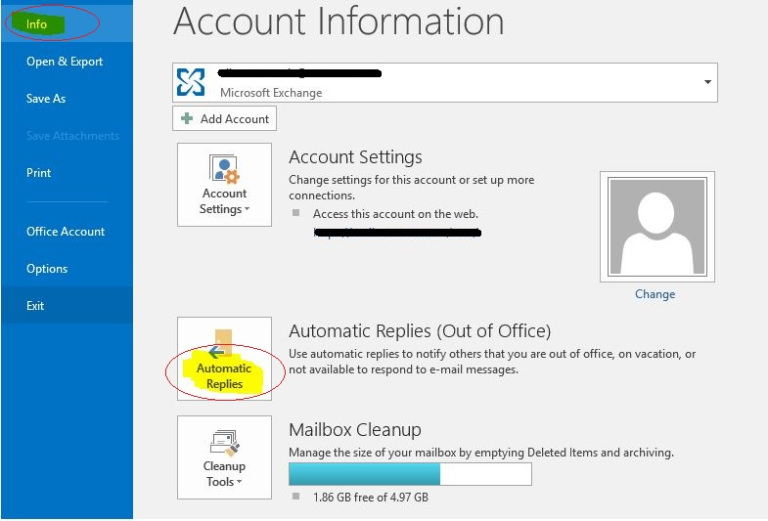 create an automatic reply on outlook